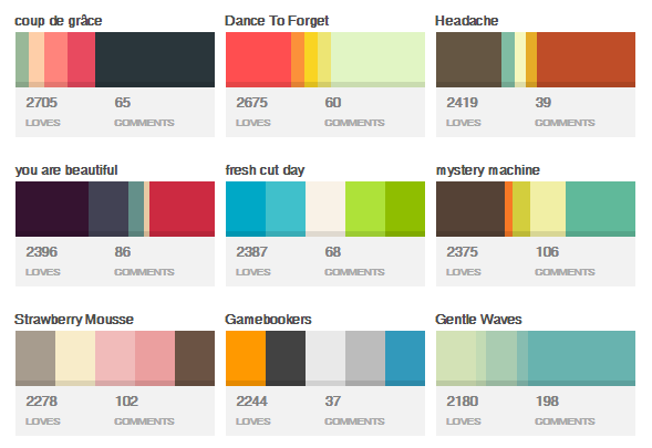 28 Popular Color Palettes