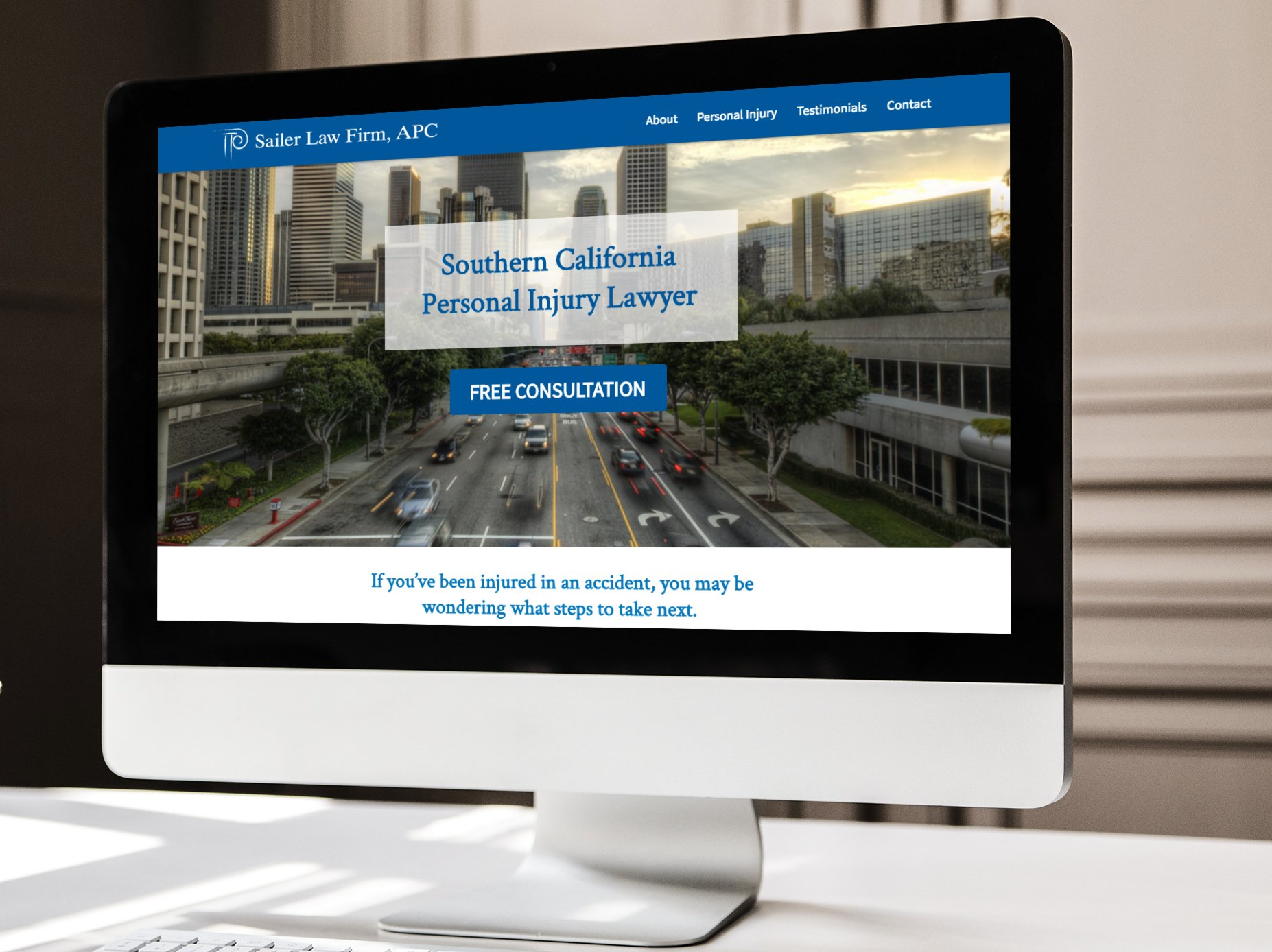 Sailer Law Firm Website Design
