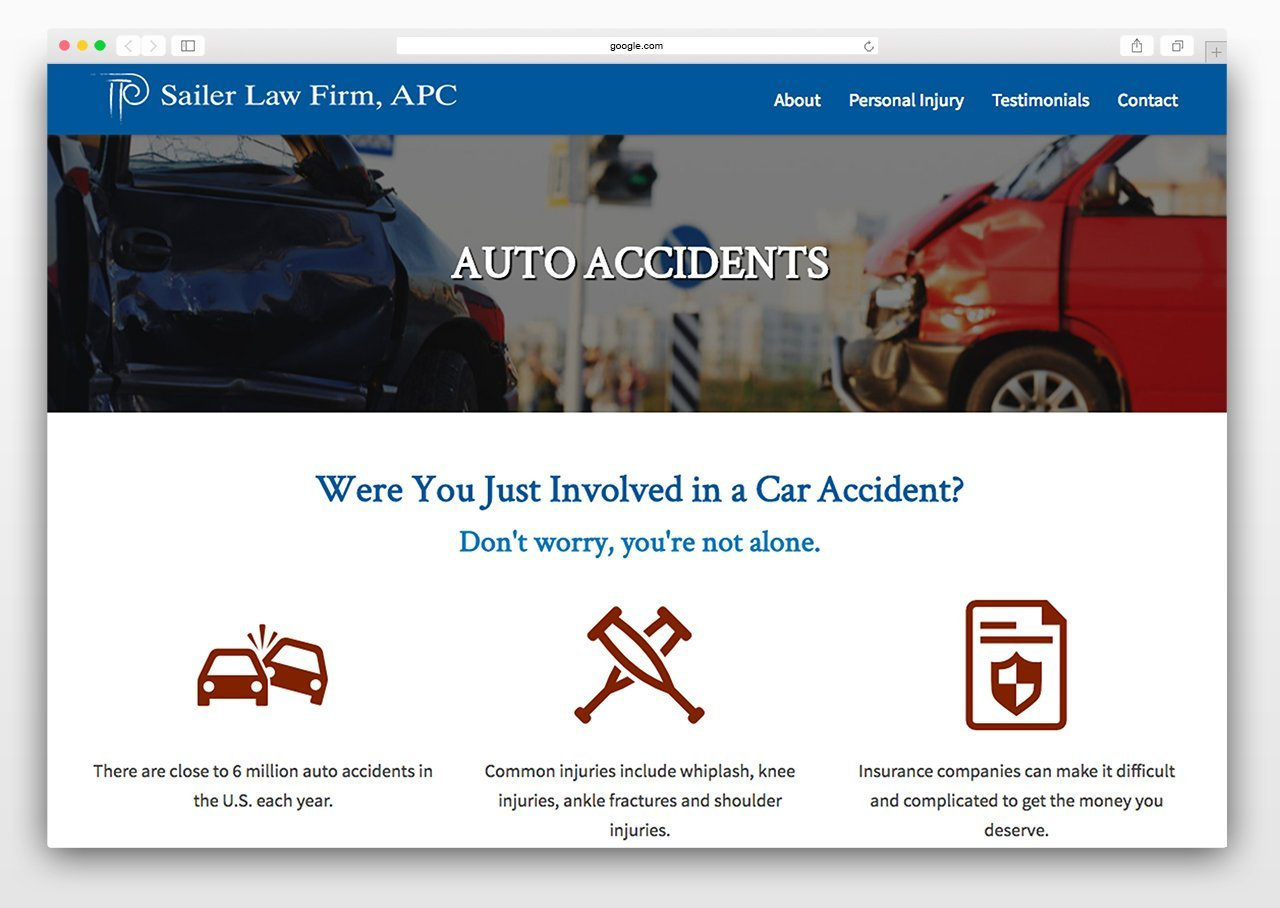 Law firm website design easy to navigate