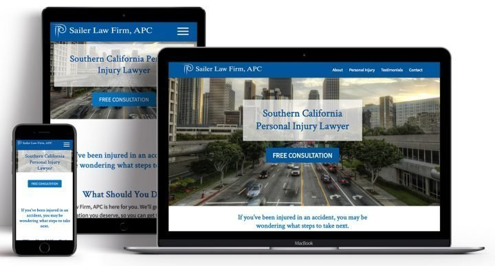 Responsive Law Firm Website